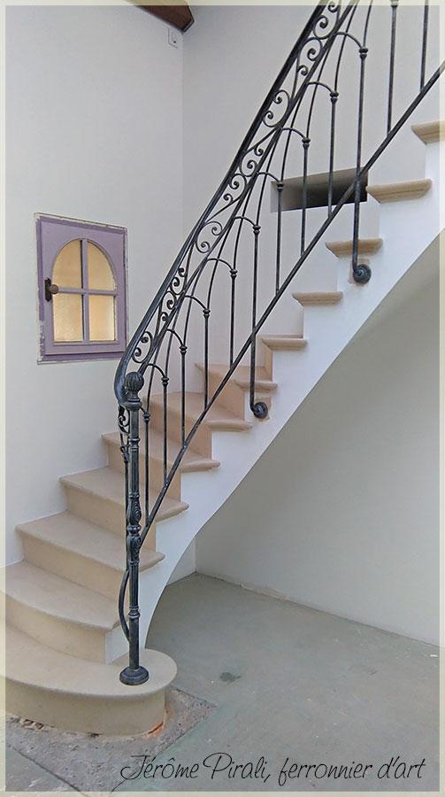 rampe escalier mod le 18 par pirali sarl. Black Bedroom Furniture Sets. Home Design Ideas