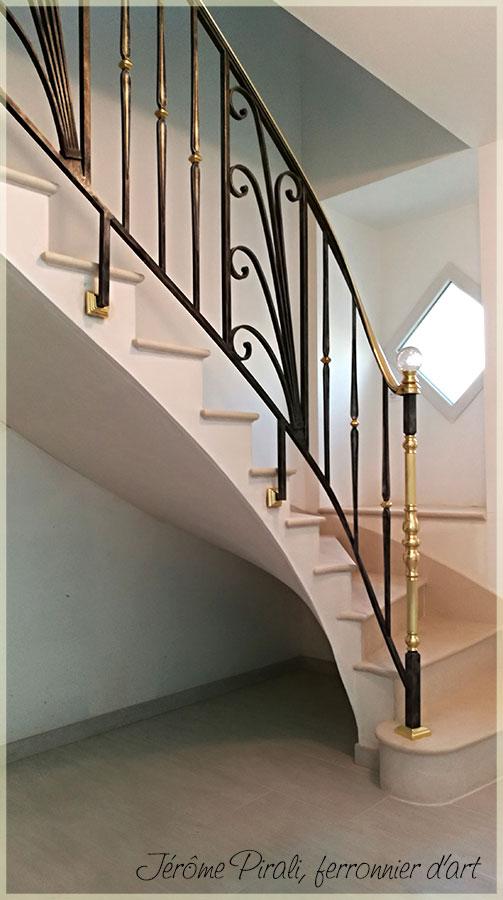 Rampe escalier Pirali modèle 04
